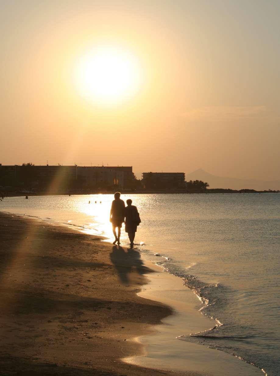 večerná pláž