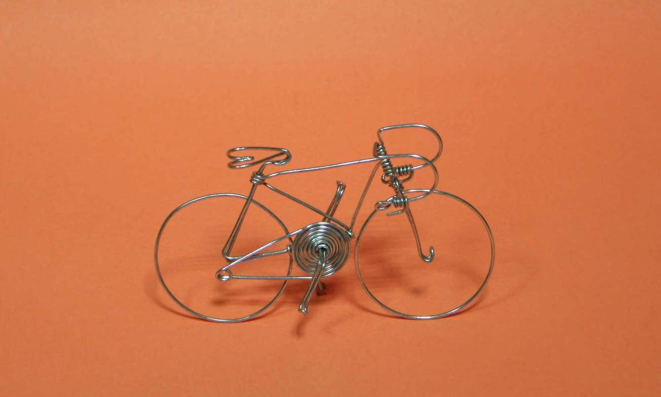 Drôtený bicykel