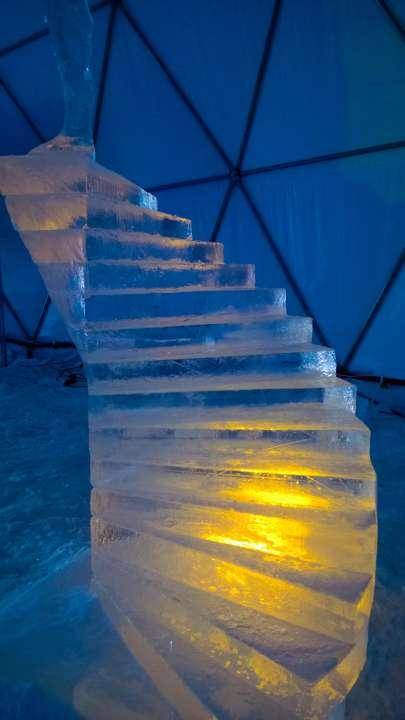 Schody z ľadu