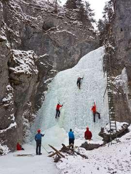 Ľadolezci v Slovenskom raji