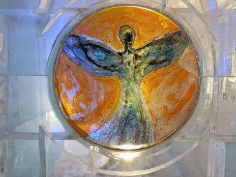 Ľadová socha anjela