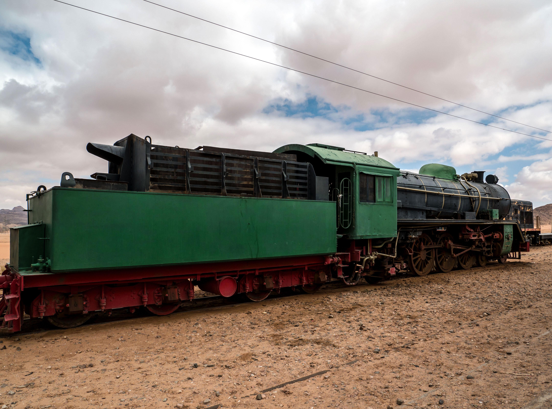 Opustený vlak v Jordánsku