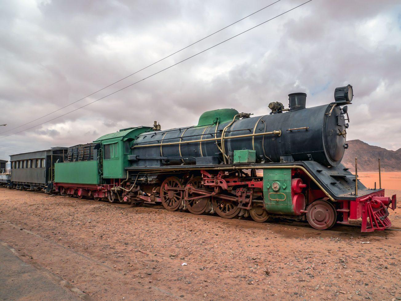 Starý vlak Jordánsko