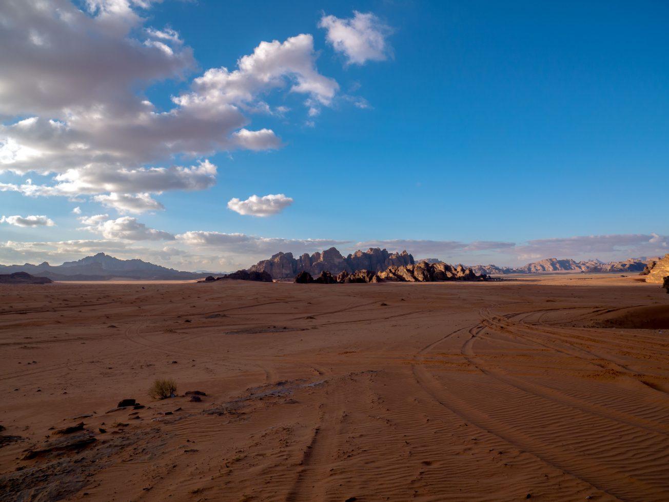 Výhľad na púšti Wadi