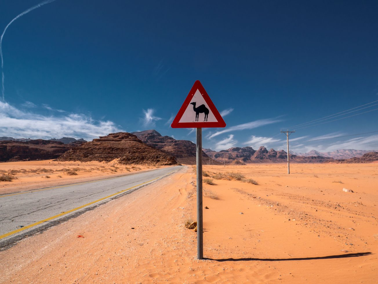 Značka v púšti