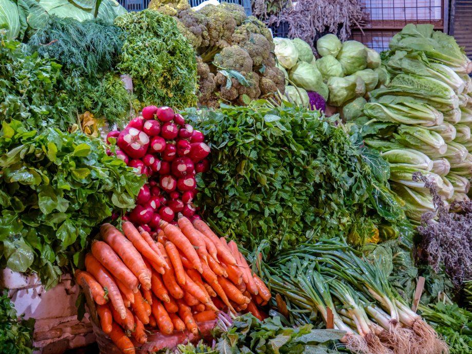 Zelenina na trhu v Jordánsku