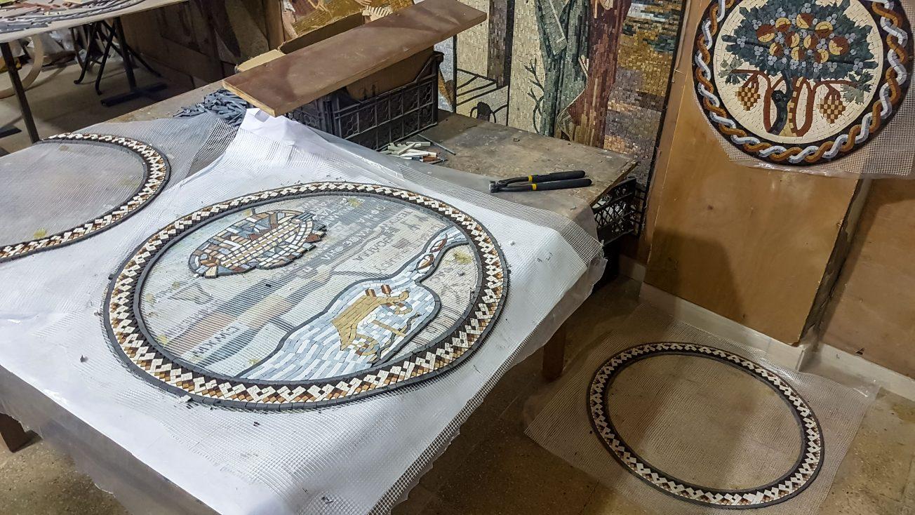 Výroba mozaiky - Jordánsko