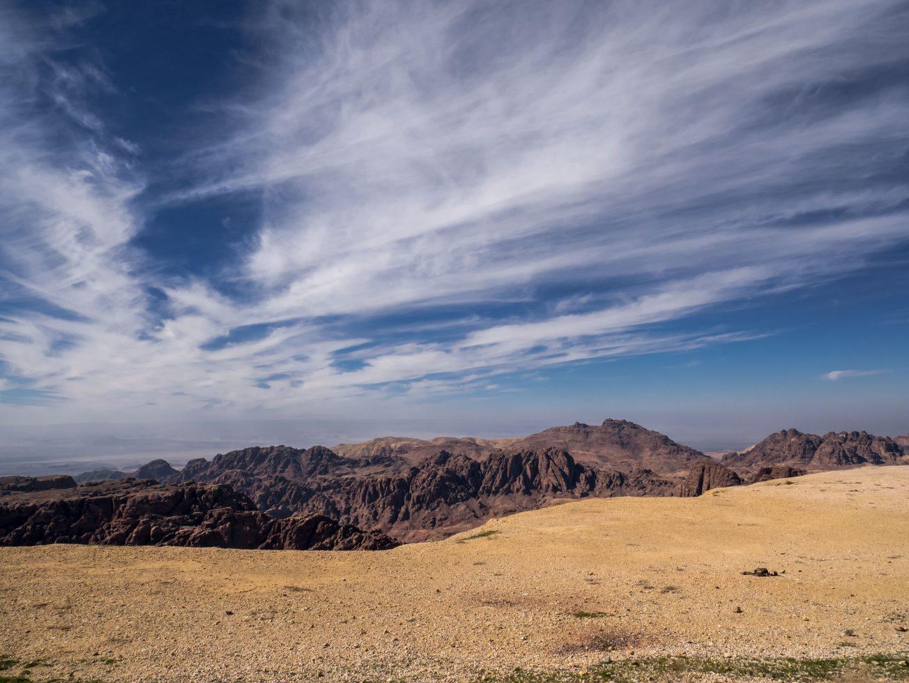 Výhľad na jordánsku krajinu