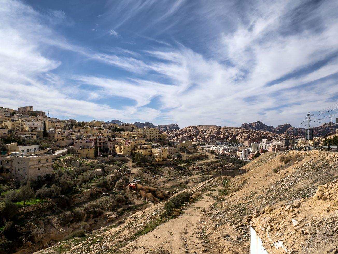 Wadi Musa mesto v Jordánsku