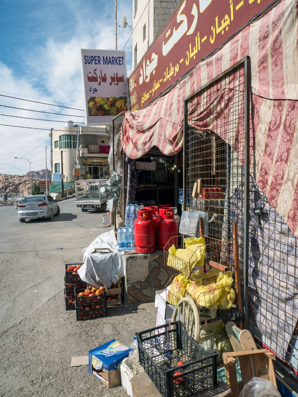Supermarket v meste Wadi Musa, Jordánsko