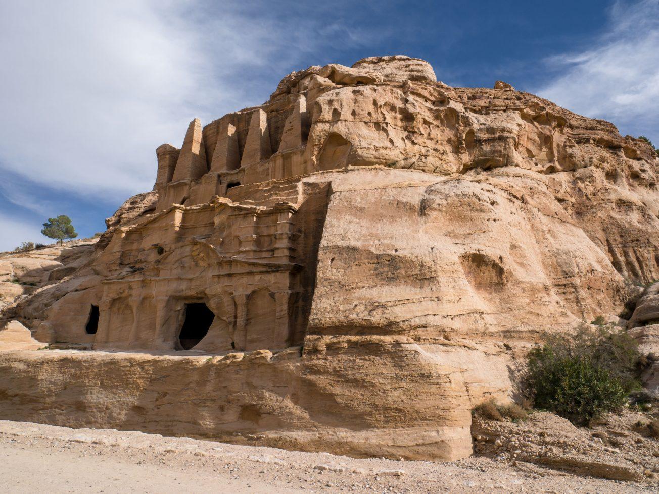 Nabatejské zrúcaniny v púšti