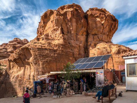 Predaj suvenírov, Petra - Jordánsko