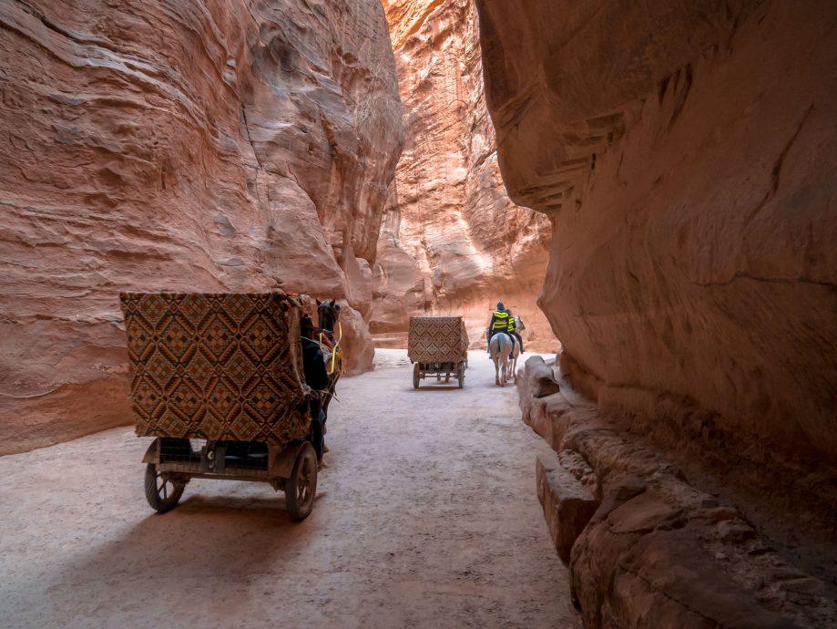 Cesta v skalnej rokline - Petra