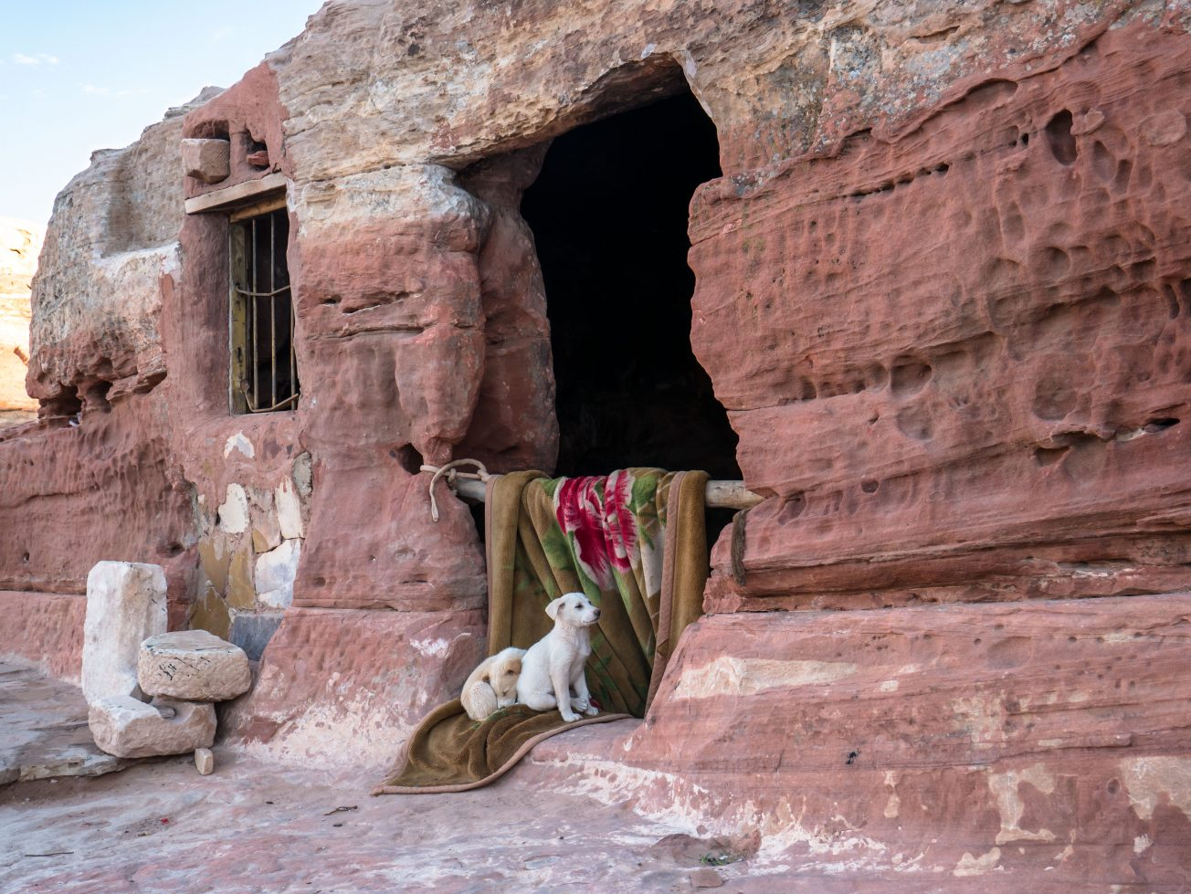 Netradičné jordánske obydlie