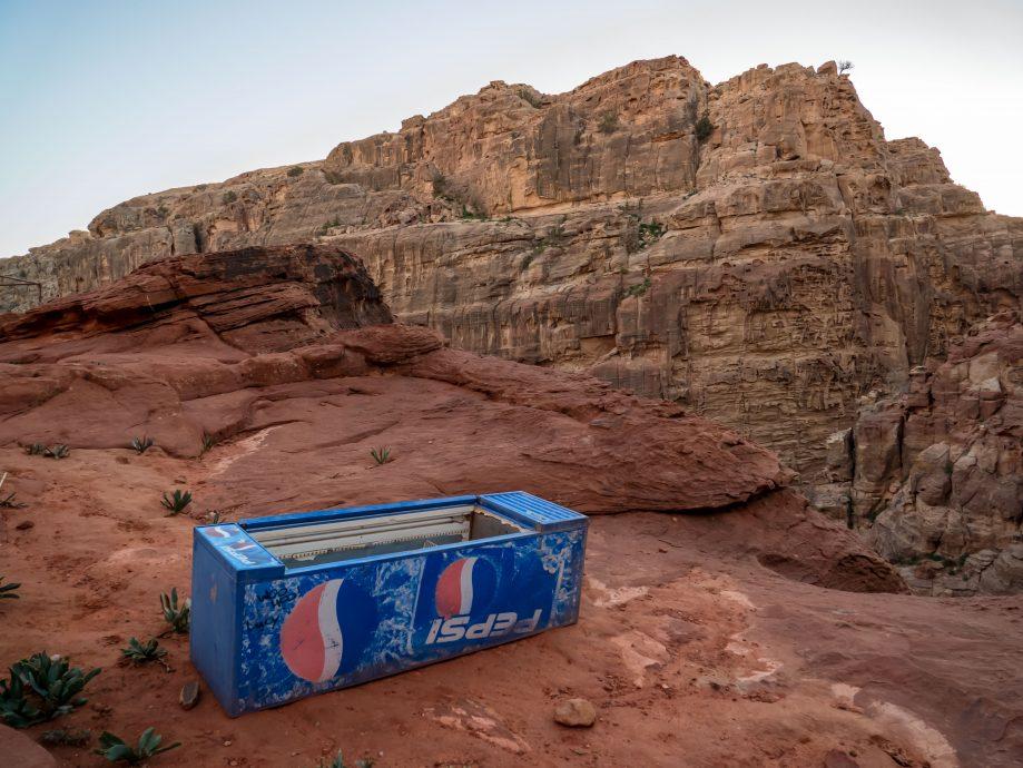 Starý automat na nápoje v púšti