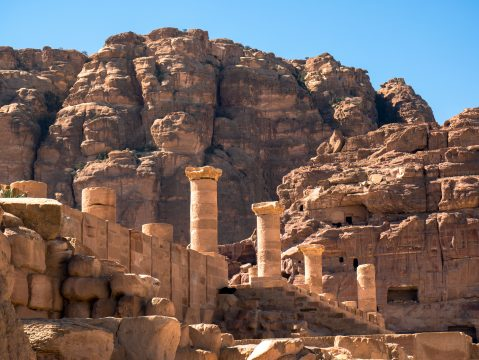 Pozostatky chrámu v Petre
