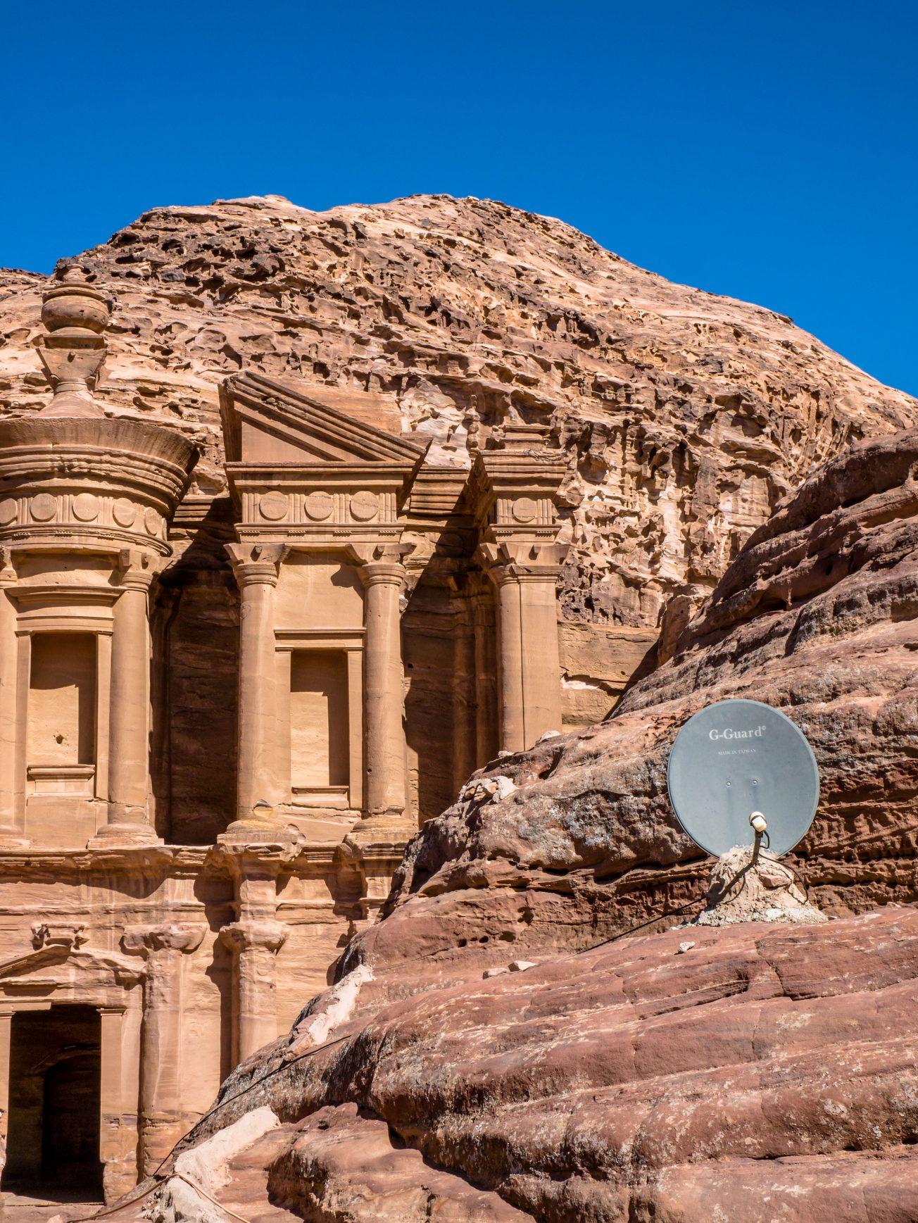 WiFi pri kláštore Al-Dayr, Petra, Jordánsko