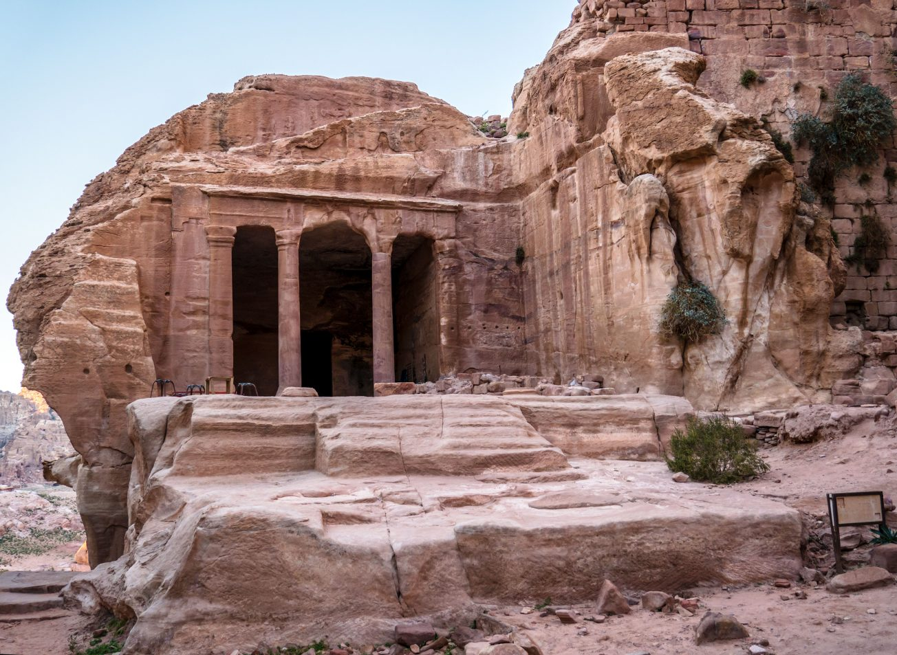 Pamiatka v meste Petra