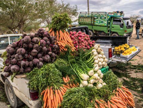 Predaj ovocia a zeleniny v Jordánsku