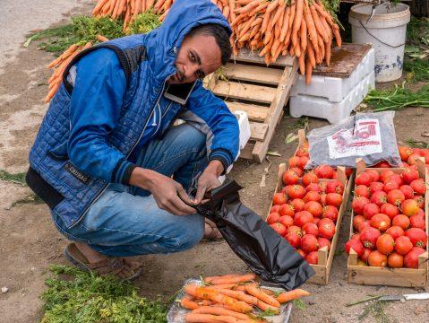 Predavač zeleniny v Jordánsku