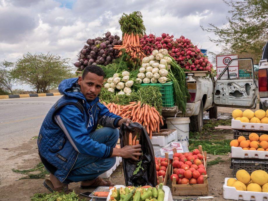 Predavač ovocia a zeleniny