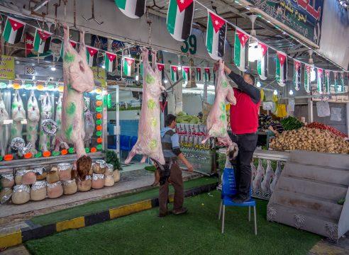 Trh s mäsom v Jordánsku