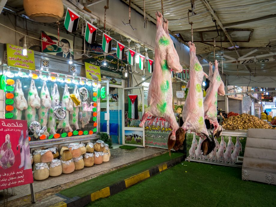 Predaj mäsa Jordánsko