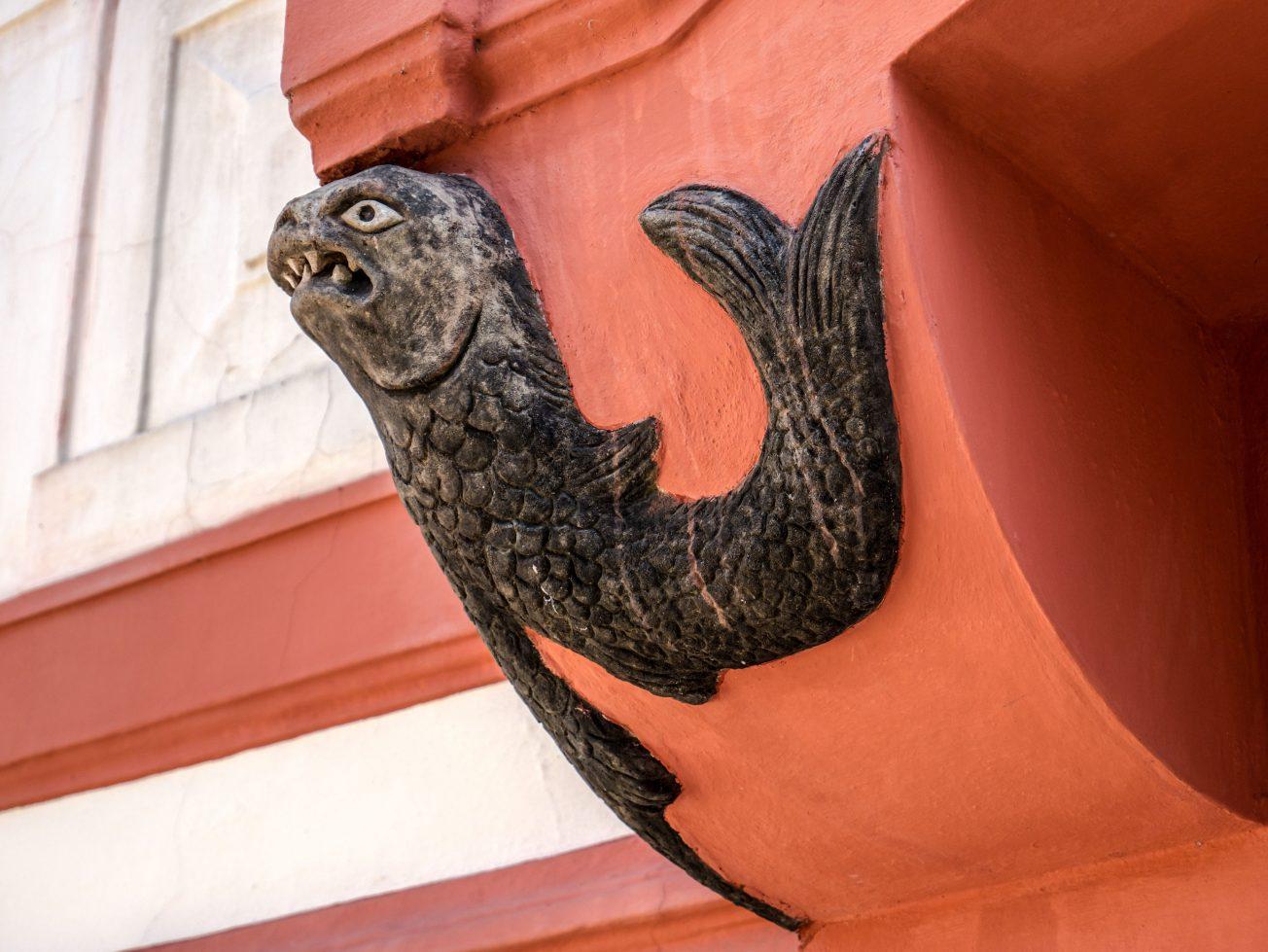 Detail ryba na fasáde