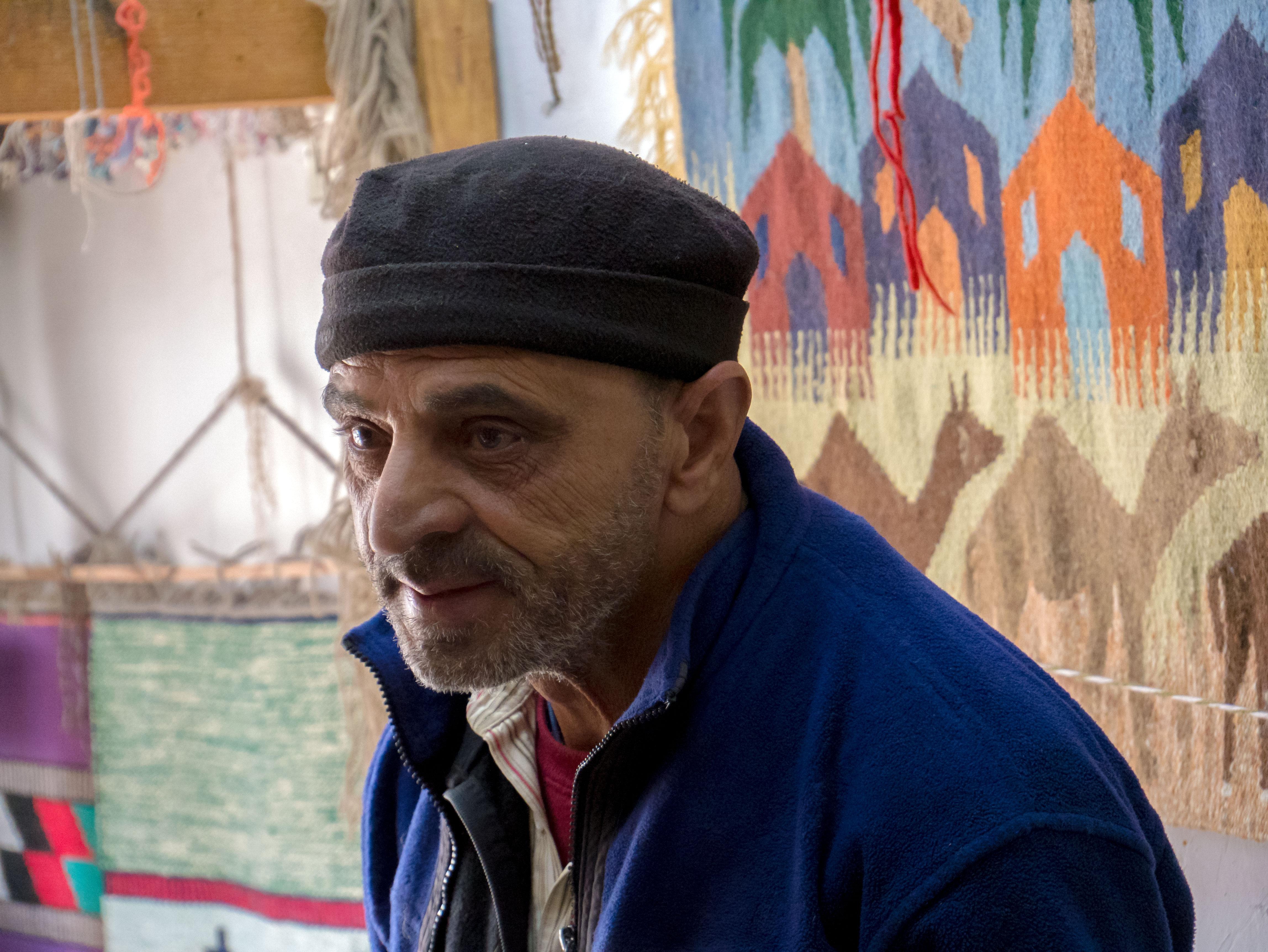 Tkáč kobercov v Jordánsku