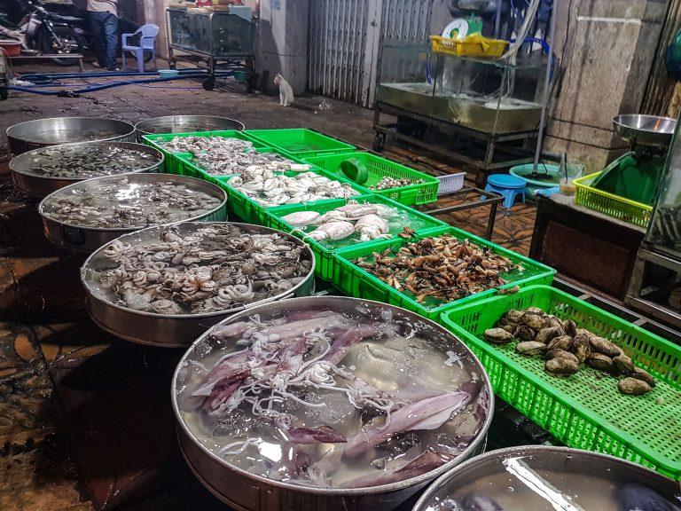 Pouličný predaj morských plodov