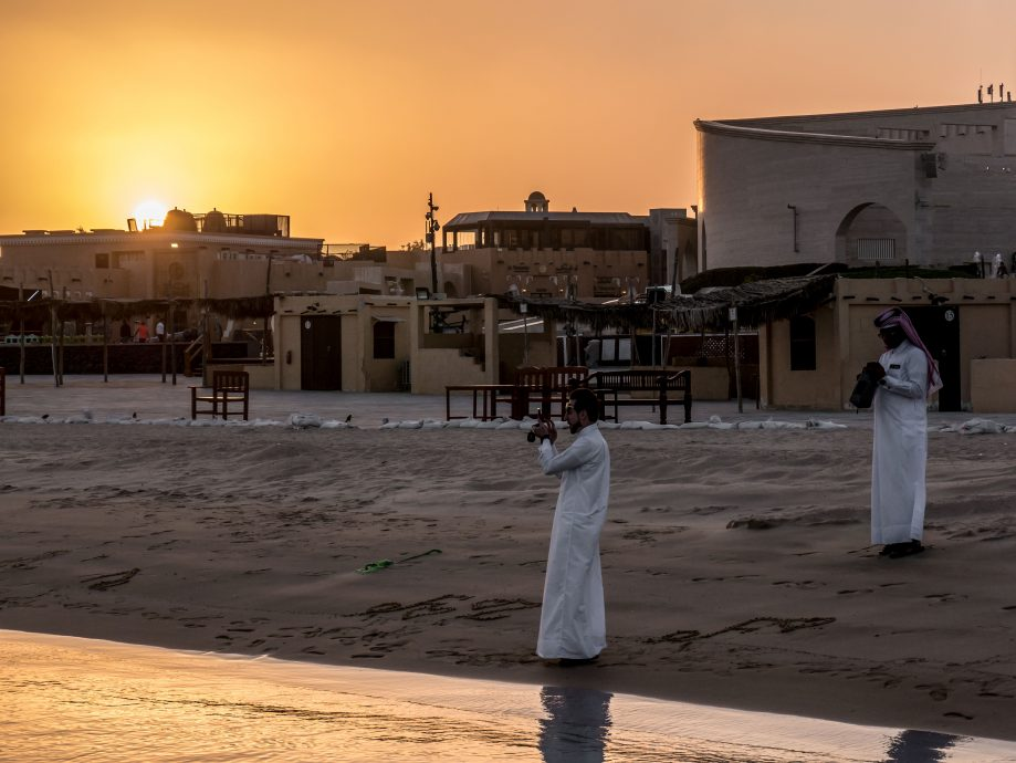 Západ slnka pláž Doha
