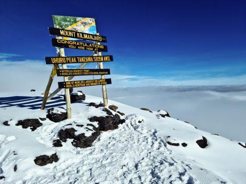 Vrchol Kilimandžára