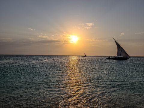 Západ Slnka na Zanzibare