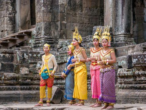 Kambodža tanečníci