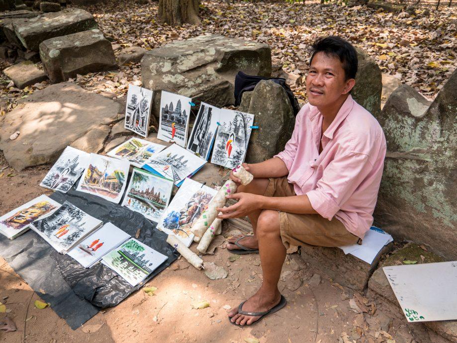 Predajca obrazov Kambodža