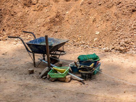 Vykopávky Kambodža