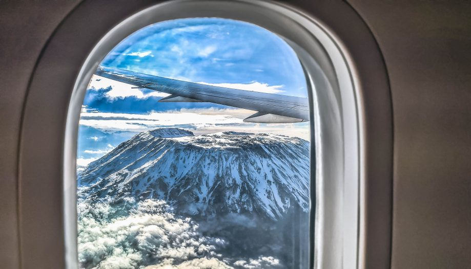 Kilimandžáro z lietadla
